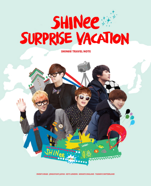 SHINee Surprise Vacation Travel Note