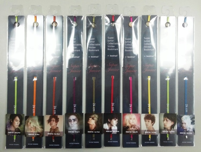 Super Junior Collectable Sticker Bookmark