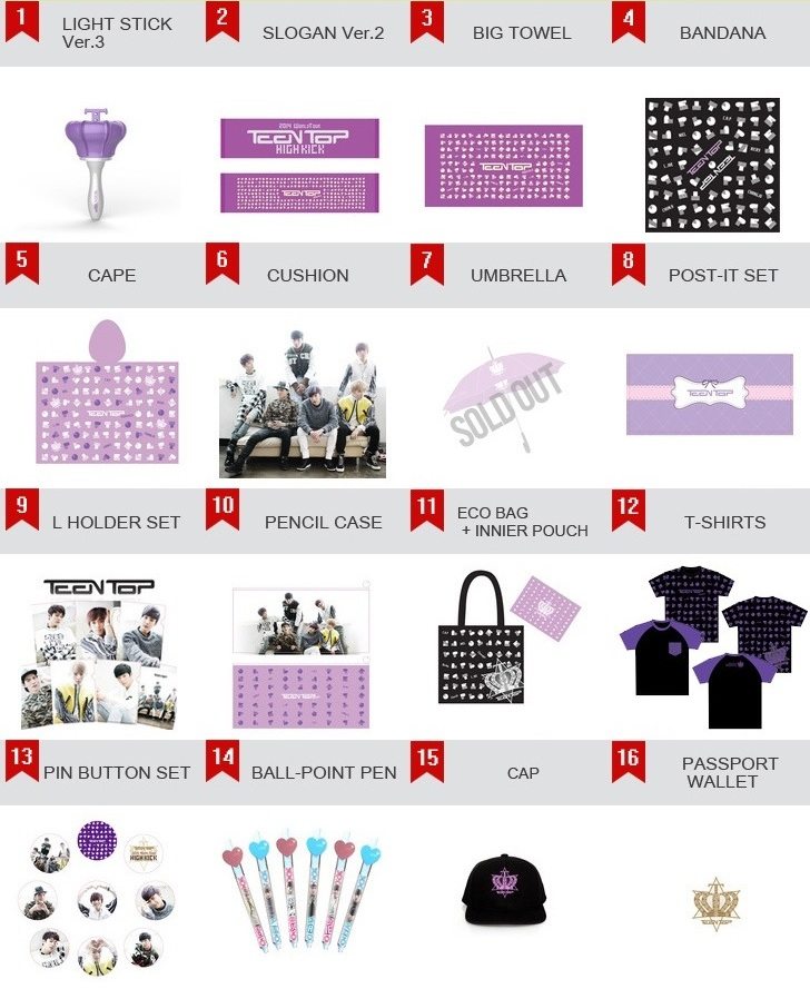 Teen Top 2014 High Kick Merchandise